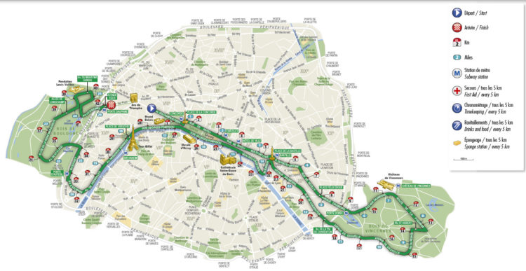 parcours marathon Paris - Istock