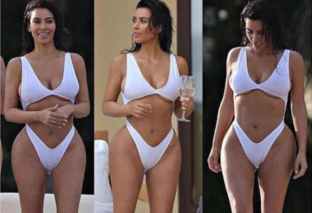 Kim Kardashian entraînement - Instagram